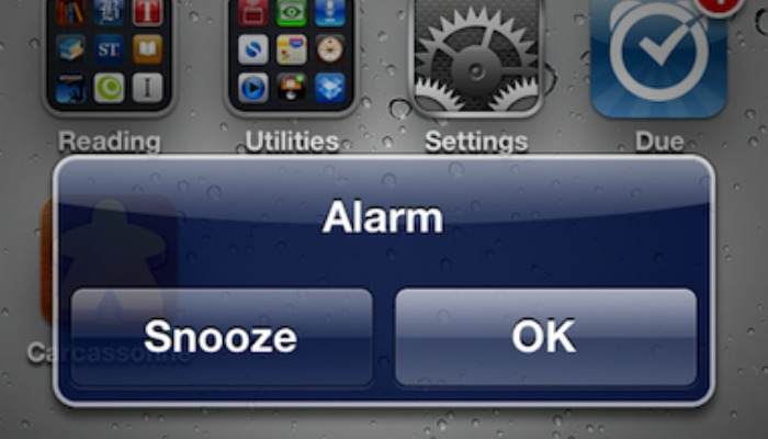 snooze button iphone