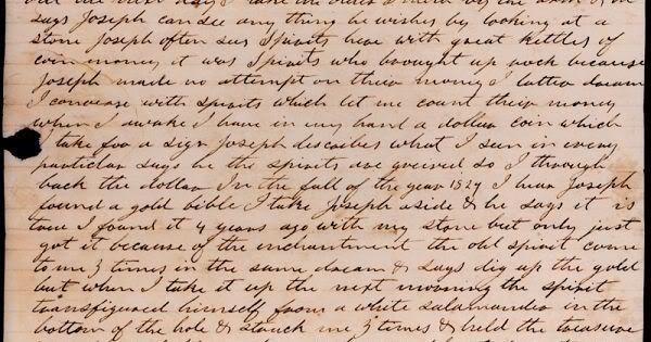 Forged Salamander Letter excerpt.