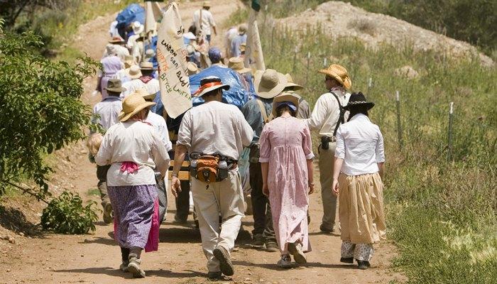 LDS youth on pioneer trek