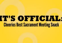 Cheerios for LDS Sacrament meeting graphic title