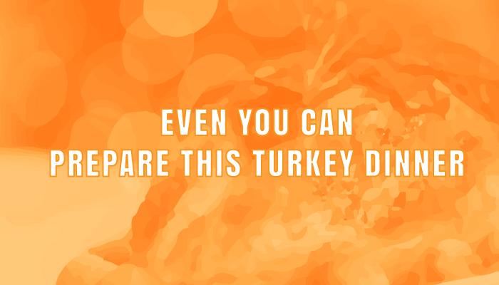 turkey dinner title graphic
