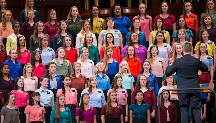 LDS sister missionaries choir