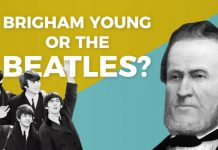 Brigham Young or Beatles quiz graphic