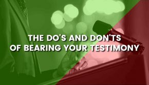 dos and donts of bearing testimony title card