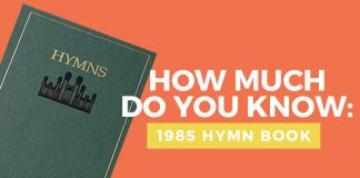 mormon hymn quiz title graphic