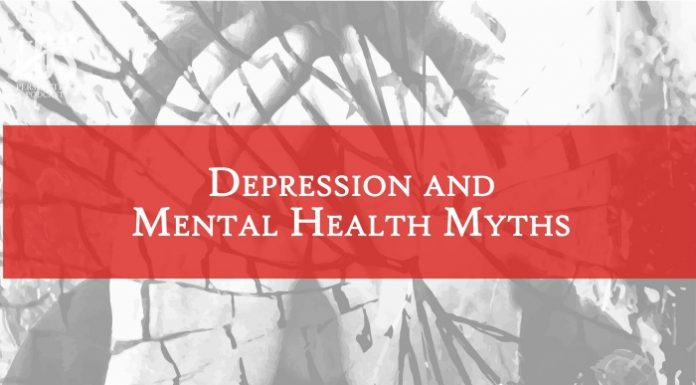 Depression and mental health title graphic
