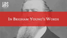Brigham Young's words title graphic