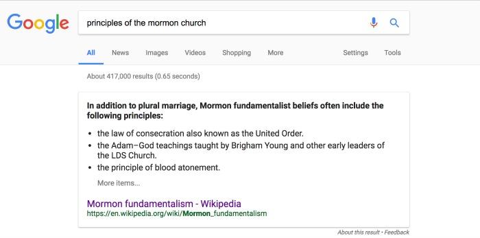fundamentalist mormons