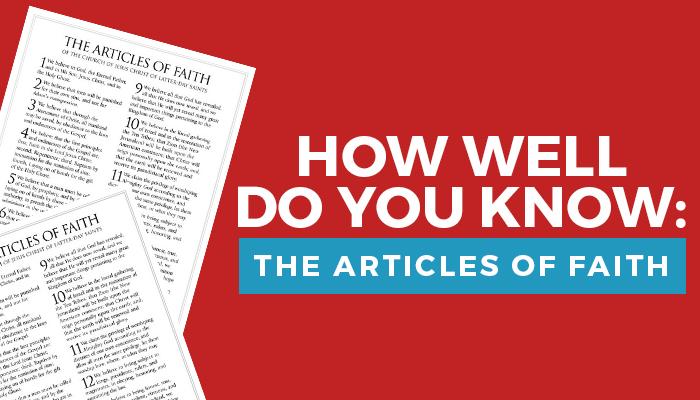 articles of faith quiz title graphic