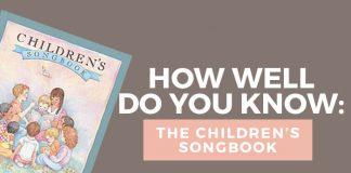 LDS children's songbook quiz title graphic