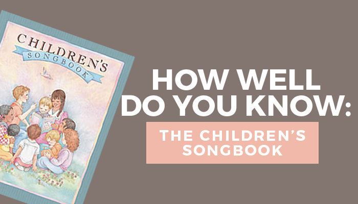 LDS children's songbook quiz title graphic