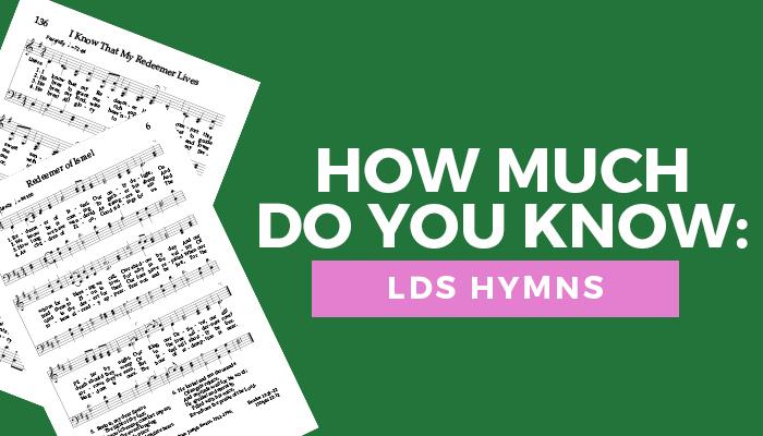 LDS hymns quiz title graphic