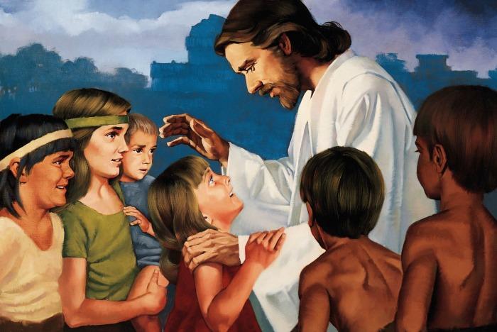 Jesus Christ blessing children