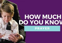 prayer quiz title graphic