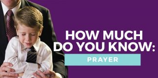 prayer quiz title graphic