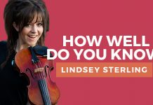 lindsey stirling quiz title graphic
