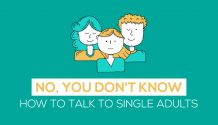 How to talk to young single adults title graphic
