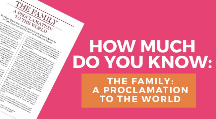 LDS Family Proclamation title graphic