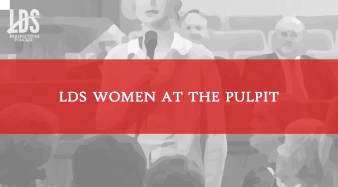LDS Women at the Pulpit title graphic