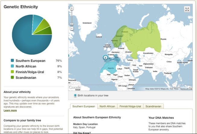 ancestry DNA chart