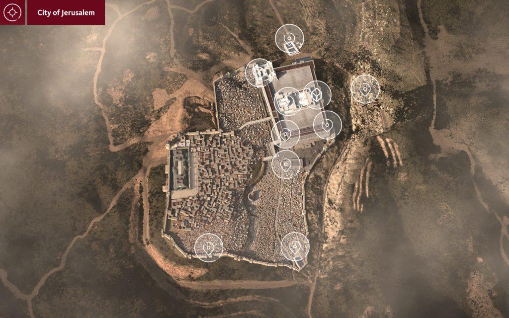 jerusalem overhead view
