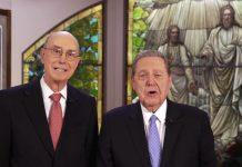 President Eyring and Elder Holland together for Face 2 Face broadcast