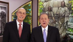 President Eyring and Elder Holland together for Face 2 Face broadcast