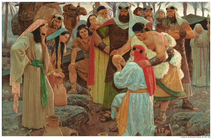 Lehi finding the Liahona