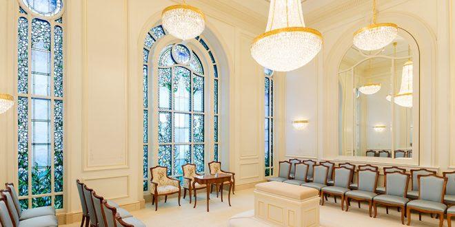 Paris Mormon temple sealing room