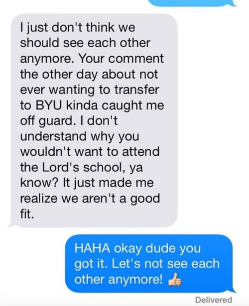 Mom i'm dating a mormon
