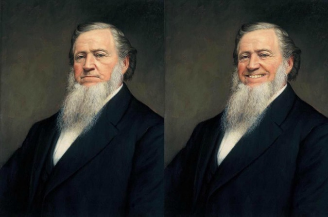 Brigham Young with smile