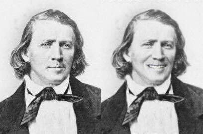 Young Brigham with smile