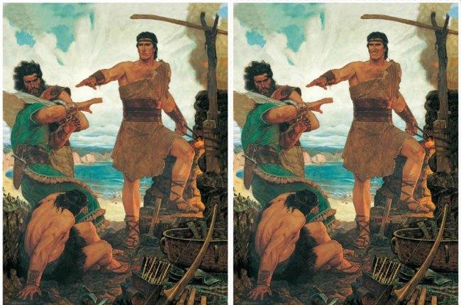 Smiling Nephi shocks Laman and Lemuel