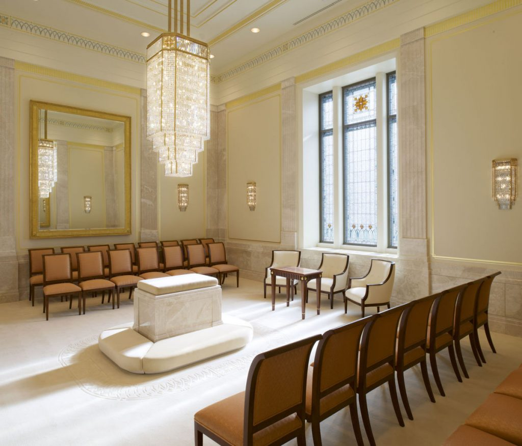 Tucson AZ Mormon Temple sealing room