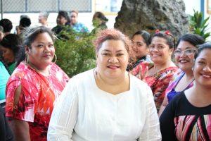 Tongan women smiling
