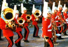a band marching