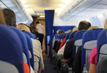 People sitting inside plane