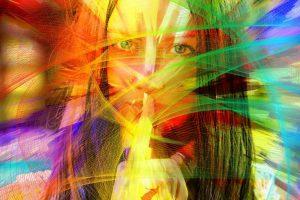 woman rainbow