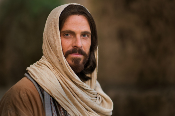 Portrait of actor playing role of Jesus Christ
