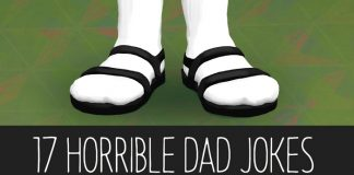 17 Horrible Dad Jokes, socks with sandals