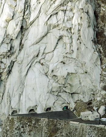 Bóveda de registros de montaña de granito