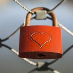 Padlock with heart on it