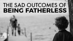 title graphic sad outcomes fatherless