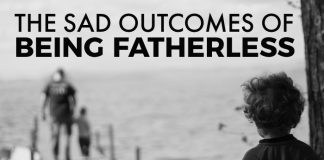 title graphic sad outcomes fatherless