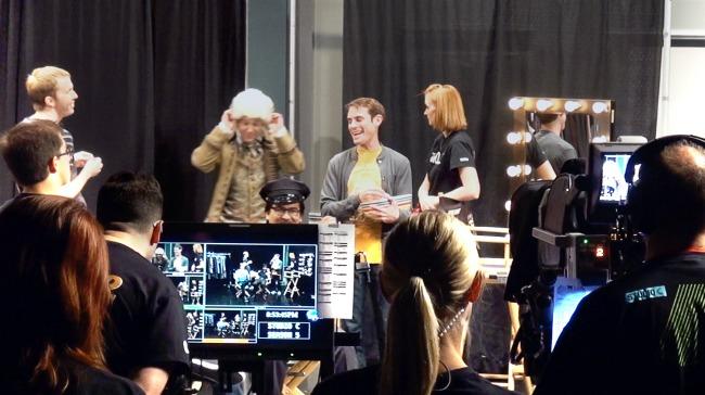 Studio C documentary scene