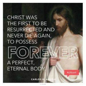 Meme with picture of Christ and text about resurrection
