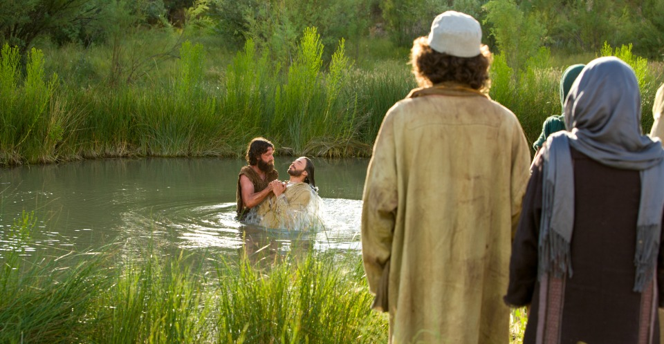 John the Baptist baptizing Christ