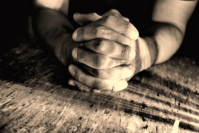 Humble Hands Clasped together