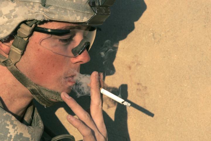 soldier smoking Mormons military