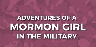Mormon in military title graphic